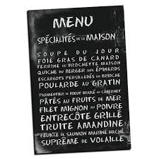 french menu wall art
