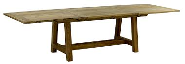 private canvas teak dining extension table