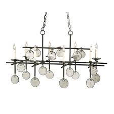currey company sethos old iron recycled glass eight light rectangular chandelier