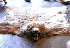 animal skin rug ideas for faux bear inside rugs fake canada