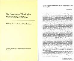 digital catalogue of the manuscripts of the canterbury tales i committed to the inclusion of the four pre 1500 printed editions the two caxton texts pynson s 1492 edition and wynken de worde s 1498 edition