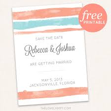 8 Free Printable Save The Dates But Should You Print Your Own