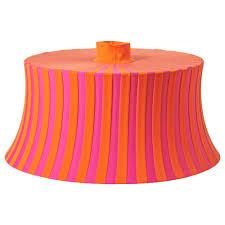 mtevik lamp shade orange pink striped cm ikea
