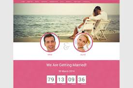 Wedding Website Template Html Html Css Themes Creative Market