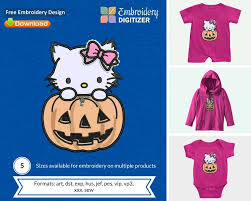 Free Applique Embroidery Designs To Download Hello Kitty Pumpkin Applique Embroidery Design Free