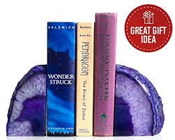 purple office decor. Geode Agate Book Ends For Office Décor And Home (Purple) Purple Decor D