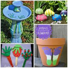 garden crafts. 12 Super Cute Garden Crafts For Kids - The Realistic Mama A