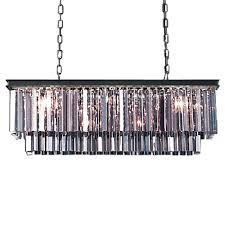 chandeliers rectangular glass chandelier home ceiling lights a restoration revolution odeon 12 silver shade glass