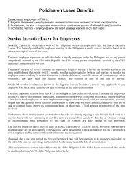 Policies On Leave Benefits Sick Leave Parental Leave