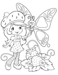 Small Picture Strawberry Coloring Pages