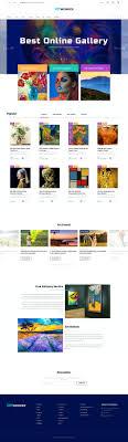 Construction Online Art Gallery Website Template Free