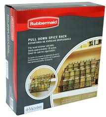 Rubbermaid Coated Wire In Cabinet Spice Rack Rubbermaid Pull Down Spice Rack FG100 Walmart 74