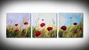 Simple Painting Simple Poppies Painting Youtube