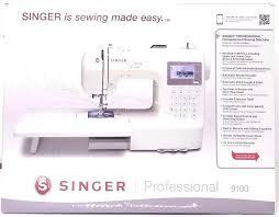 singer 9100 professional computerized sewing machine with extension table iban tech