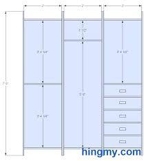 wardrobe dimensions closet design dimensions inside standard bedroom wardrobe size