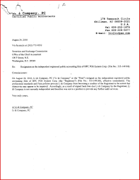 Sample Of Resignation Letter For Accounting Staff