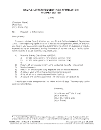 Request For Information Letter Format Letter Format 2017