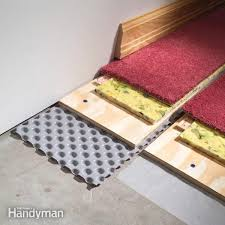 Floor Modern Wet Basement Floor Solutions Within How To Carpet A