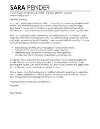 Cover Letter Sample Legal Assistant Cover Letter Legal Assistant