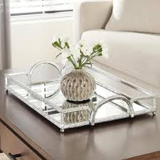 Relaxdays coffee table hardened frosted glass couch table side table steel hxwxd. Home Decorators Collection Silver Hammered Metal Decorative Rectangle Mirror Tray P156067 1xx The Home Depot In 2021 Coffee Table Decor Tray Silver Tray Decor Dining Table Decor Centerpiece