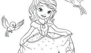 Princes Free To Color For Children The First Kids Simple The First