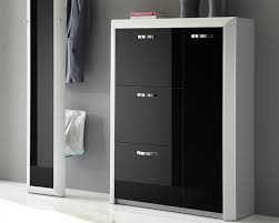 Titan 4 Door Modern Shoe Cabinet Available in Various Finishes