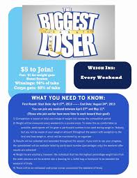 19 Inspirational Biggest Loser Weight Loss Chart Template