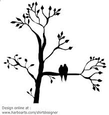 two bird silhouette. Plain Two Silhouette Of A Tree With Leaves Two Birds Sitting On Branch You  Canu2026 In Two Bird