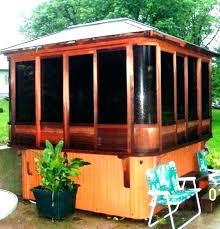 cedar hot tub kit gazebo enclosures enclosure kits com for tubs diy steps plans