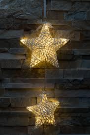 Details Zu Led 3er Sterne Weiß Deko Hänger Girlande Fenster Weihnachtsstern Batterie Timer