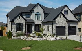 House With Black Trim Dark Brown Paint Color For House Exterior Google Search Curb