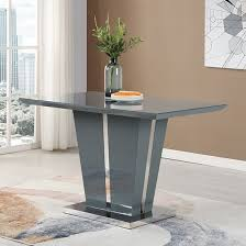 memphis dining table small in grey high