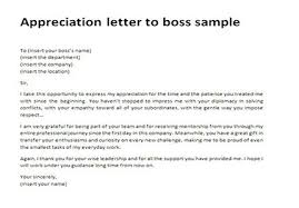 Thank You Letters To Boss Appreciation Letter To Boss Sample Thank You Letter To