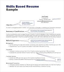 Skill Based Resume Template Enchanting Experience Based Resume Template Awesome Example Of A Skills Based