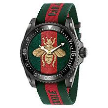 gucci watches watches ernest jones gucci men s ion plated bee strap watch product number 6383416