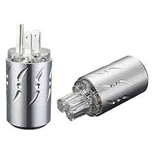 viborg high end silver plated pure copper us ac power plug inlet iec320 female cord connector socket hifi audio amp diy