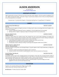 Sample Attorney Resume A Snapshot