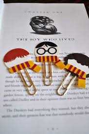 innovative harry potter paper and gems clip bookmarks for fans