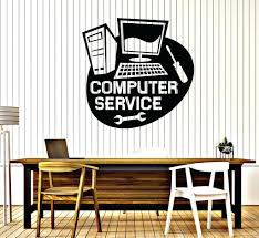 computer wall decals vinyl wall decal computer service repair stickers mural  vinyl wall decal computer service