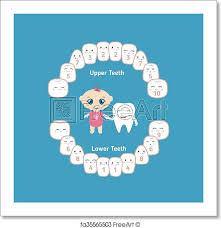 Teething Chart For Babies Free Art Print Of Baby Teething Chart Temporary Teeth Names