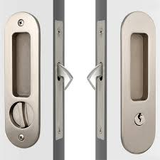 modern round face high security sliding glass door key lock