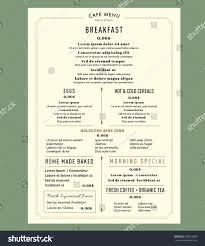 Menu Design Template Menu Design For Breakfast Restaurant Cafe Graphic Design Template 19
