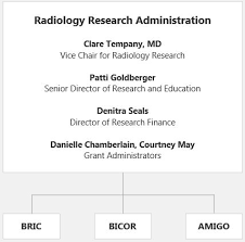 Radiology Research Cores Organization Charts Brigham And