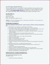 Cosmetology Resume Templates Custom Cosmetology Sample Resume Administrativelawjudge