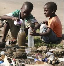 best water crisis images faces beautiful  children collect stagnant water for use at home in harare