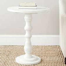 small white accent table for fabulous best 25 pedestal side