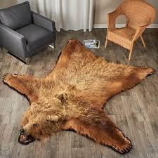 photo 4 of fake bear skin rugs for rug brown