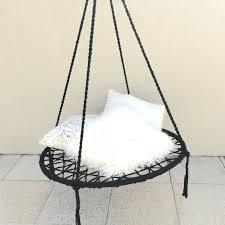 black macrame hanging chair design ideas