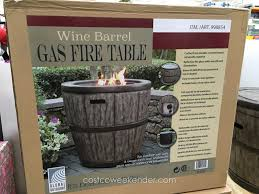 global outdoors wine barrel gas fire table costco weekender in outdoor gas fireplace table