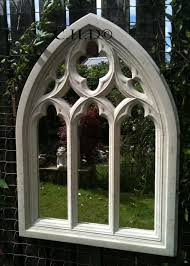 Small Picture STONE GOTHIC ARCHED MIRROR CHURCH WINDOW WALL OUTDOOR GARDEN DECOR